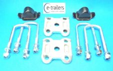 Kit for Ifor Williams Twin Leaf Springs - Bump Stop Clamp Base & U Bolts